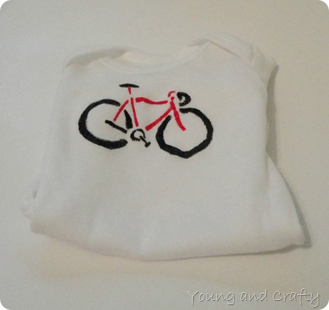 Bicycle Freezer Paper Stencil