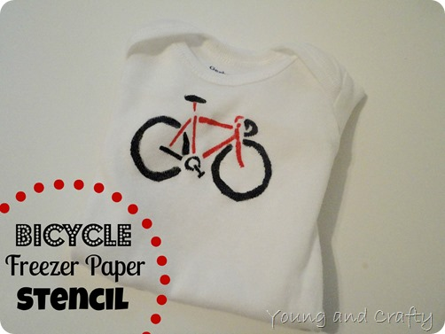 Bicycle Freezer Paper Stencil 1
