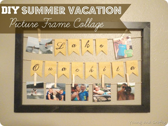 DIY Summer Vacation Picture Frame Collage and GIVEAWAY ($200 Home ...