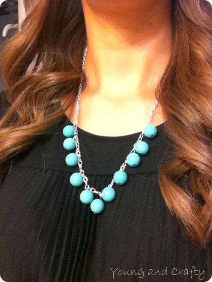 DIY Turquoise necklace 1